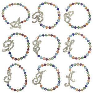 🍀CLOSEOUT🍀 Initial Monogram Stretch Bracelet